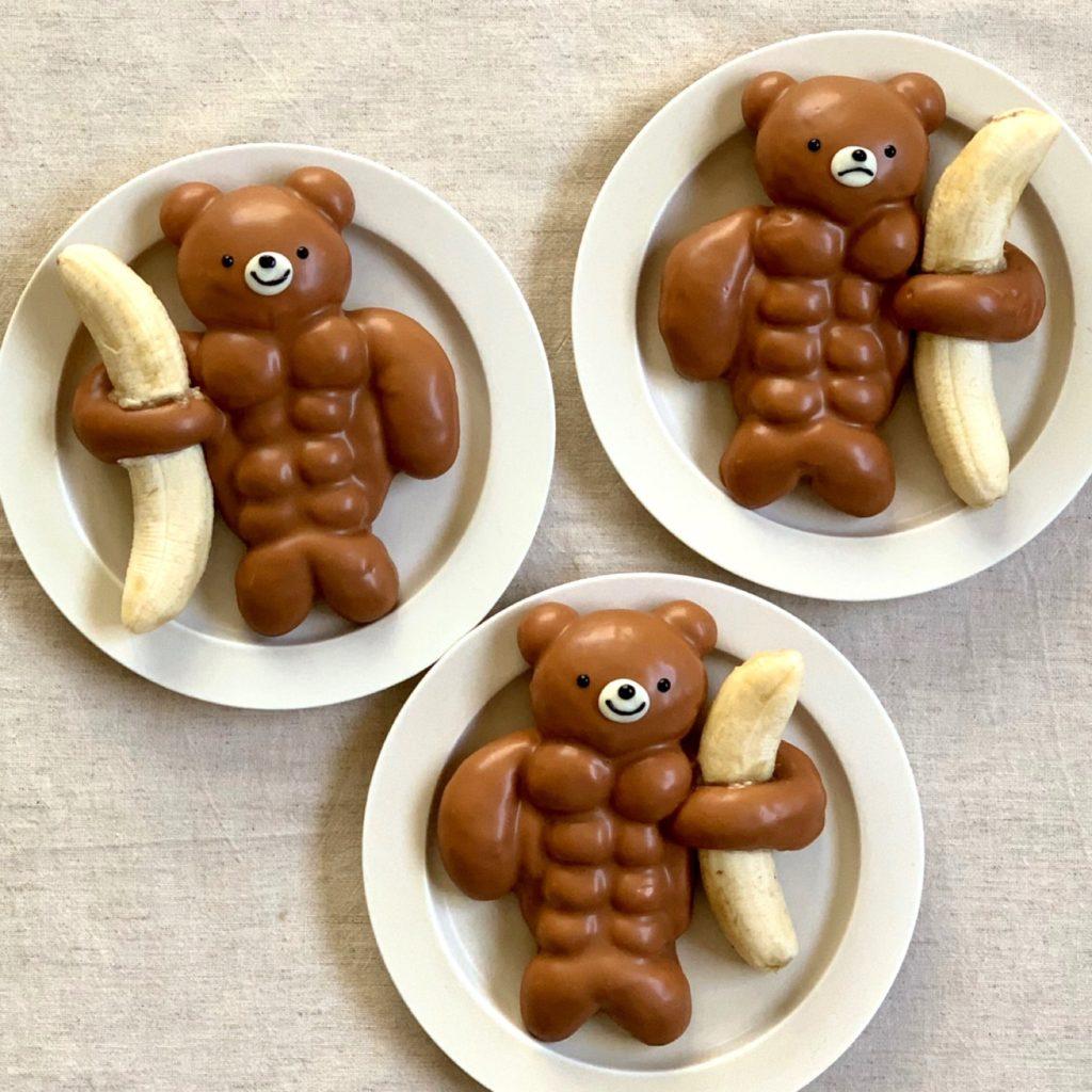 献给健身男友的最佳礼物!神人手作「筋肉版懒熊巧克力」情人节示爱就选他!