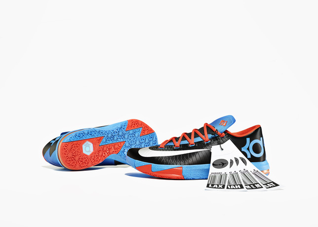 雷帝签名鞋款NIKE KD VI AWAY最新配色 黑橘蓝,真经典,后背包,好想要!