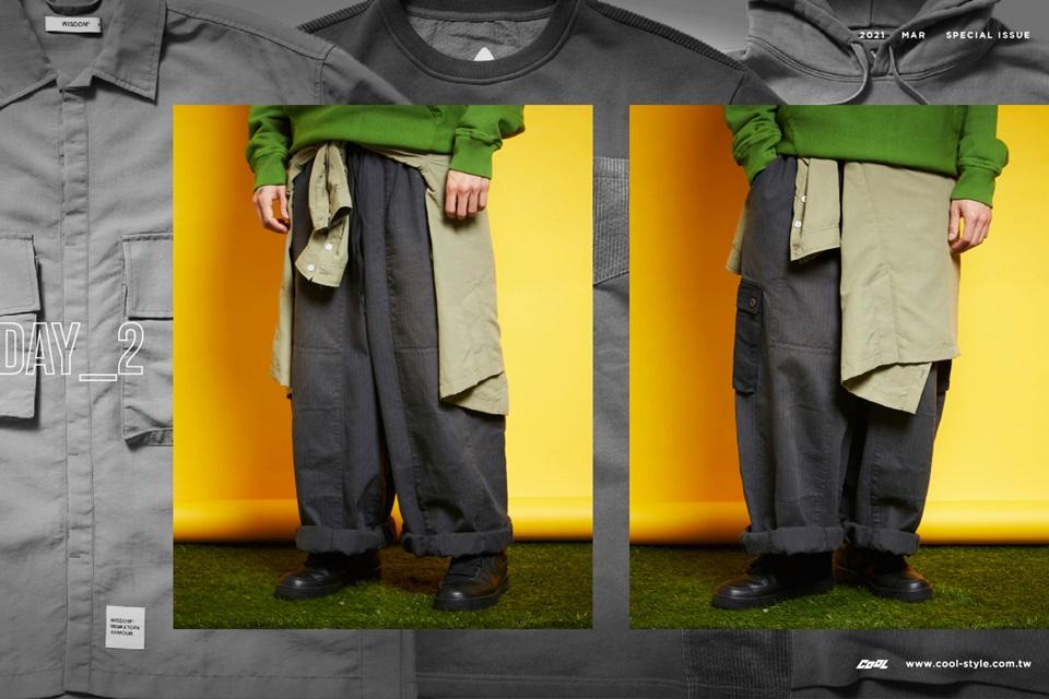 2021春天穿搭 万能三本柱:衬衫、连帽衫、大学T 的一周间!